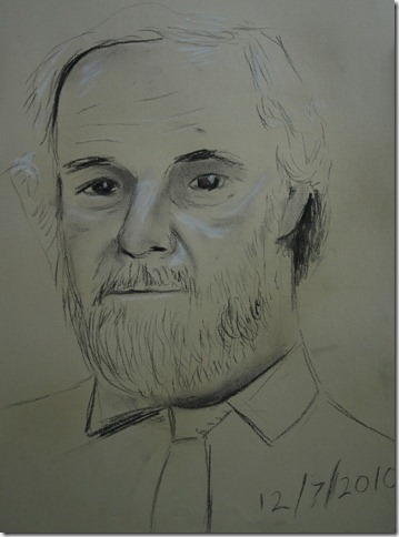 Tonal sketch of a man