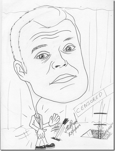 ©2010CathyRead -Graham Norton - A4 - Ink on paper