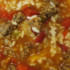 Sweet & Savory Stuffed Bell Pepper Soup