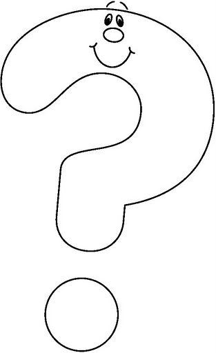 Question Mark Coloring Page Sketch Coloring Page