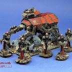 Dark Mechanicus Protectors and Stalker Plague Marines and Rhino 3.jpg