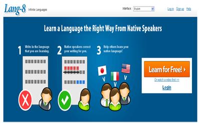 Lang-8 - Multi-lingual language learning and language exchange_1272911624690