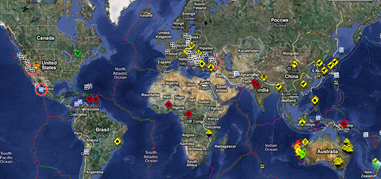 hazard si risc-cutremur in timp real