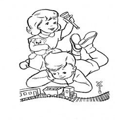 ziua copiilor - desene de colorat