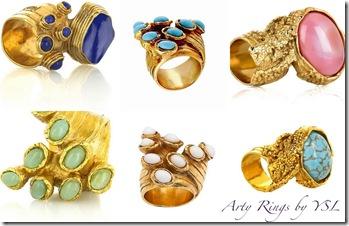 bijuterii-inele- arty rings - yves saint laurent