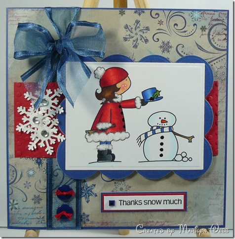 Whimsical Girl Snowman