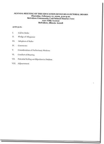 Agenda Feb 12