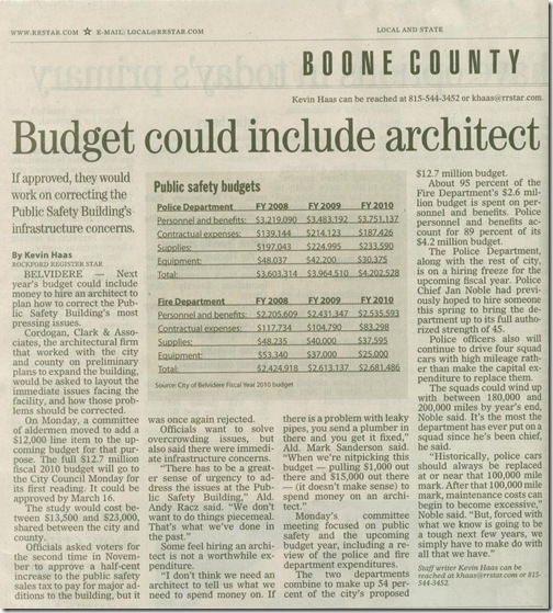 City budget for PSB
