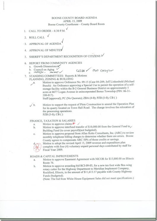 4-15-2009 Agenda