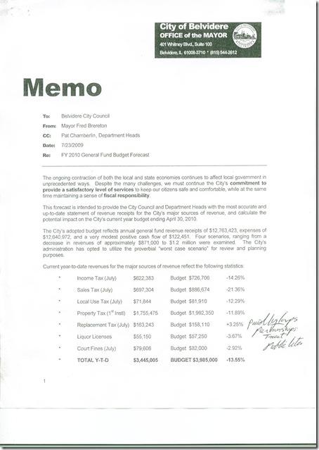mayor's memo page 1