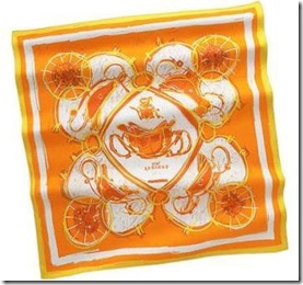 Hermes Orange Scarf