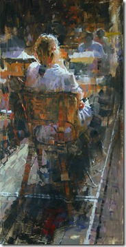 Alone at a Paris Cafe 30x15 $4000
