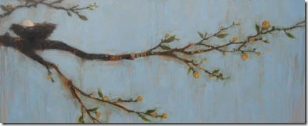 As We Await the Blooms 18x48