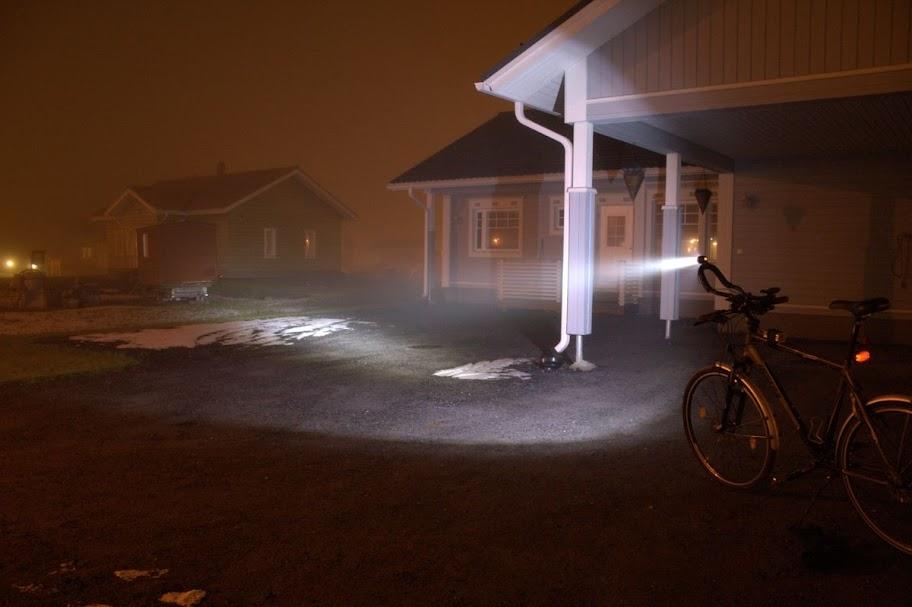 Kuva lampun valotehosta