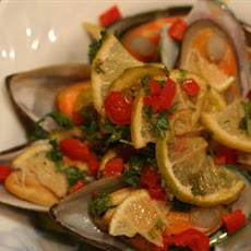 Grilled Mussels with Curry Butter