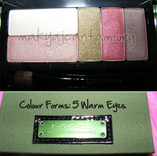 mac colour forms 5 warm eyes swatch makyaj kozmetik