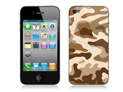 iPhone4 背面 迷彩