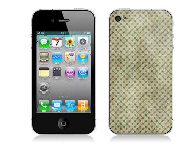 ドットパターンC(ダート)-iPhone4用背面スキンカバー