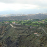 Aussicht vom Pico de Bandama auf den Golfplatz am Caldera de Bandama