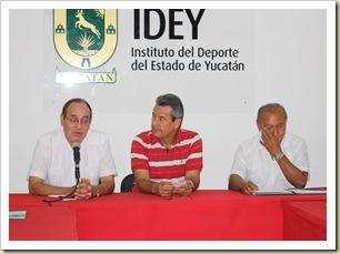 Andrés Guevara, José Novelo y Javier Peña