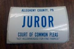 juror badge
