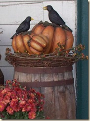 fall pumpkin with crows 09