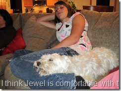 Do you think Jewel is comfortable with the WC Family?