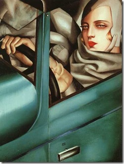 Autoportrait (Tamara in the Green Bugatti), 1925