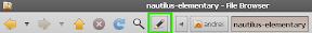 nautilus location bar state toggle button