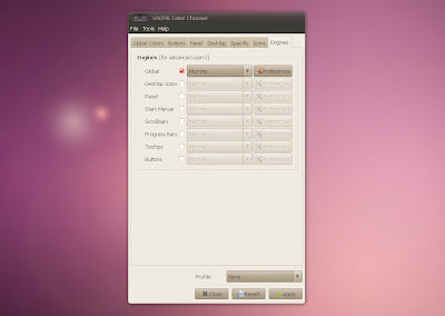 gnome color chooser enable murrine