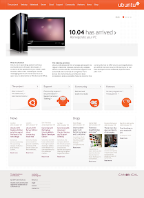 new ubuntu website