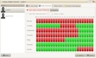 gnome nanny parental control linux ubuntu