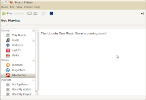 ubuntuone music store screenshot