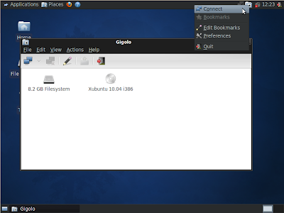 xubuntu gigolo screenshot