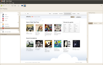 ubuntu 10.04 lucid ubuntuone music store rhythmbox screenshot