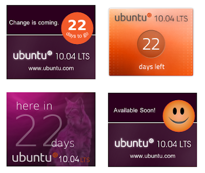 ubuntu 10.04 lucid lynx official countdown banners
