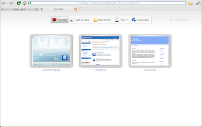 rekonq web browser screenshot