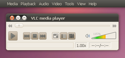 vlc global menu application menu ubuntu 10.10