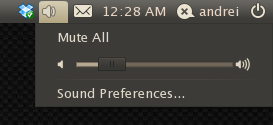 sound applet ubuntu 10.10