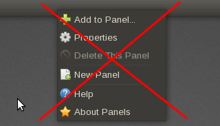right click gnome panel