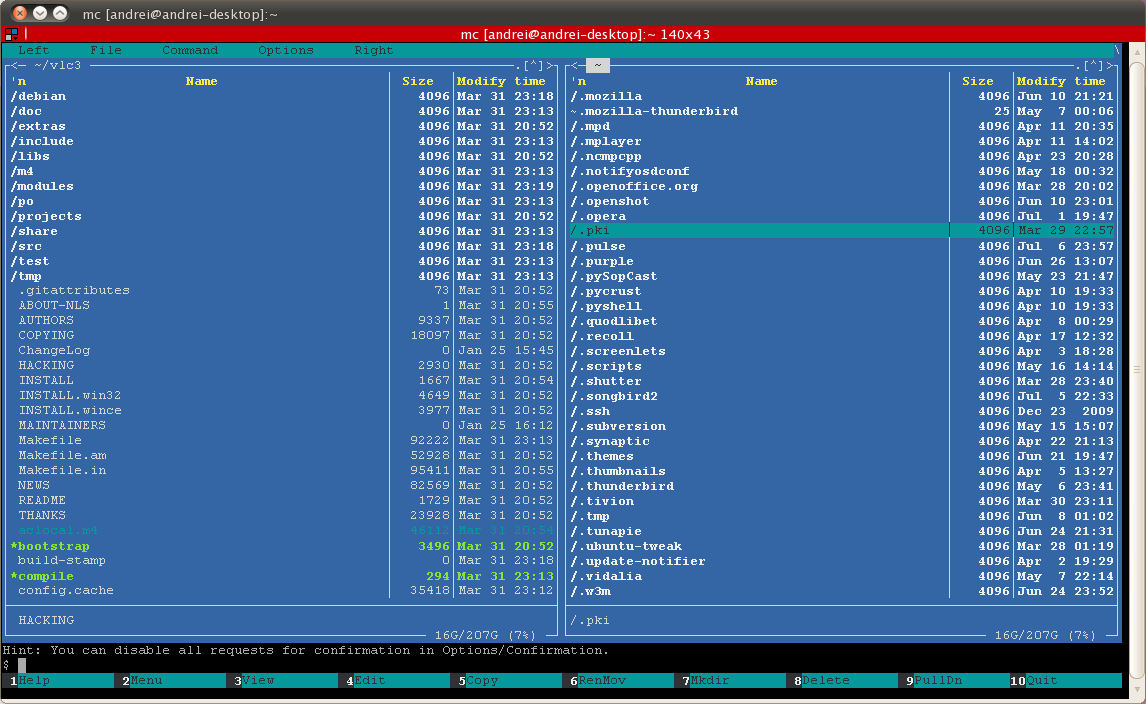 apt install mc ubuntu server