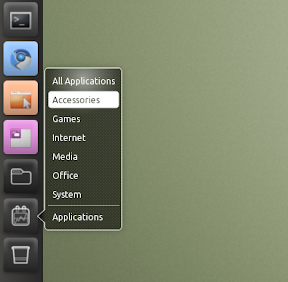 unity applications menu