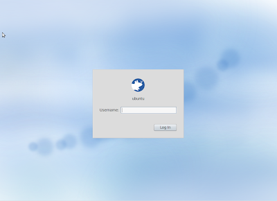 Xubuntu 10.10 screenshot login screen