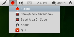 gtk-recordmydesktop appindicator