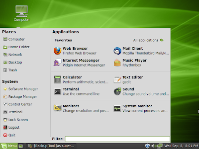 Linux mint debian screenshot