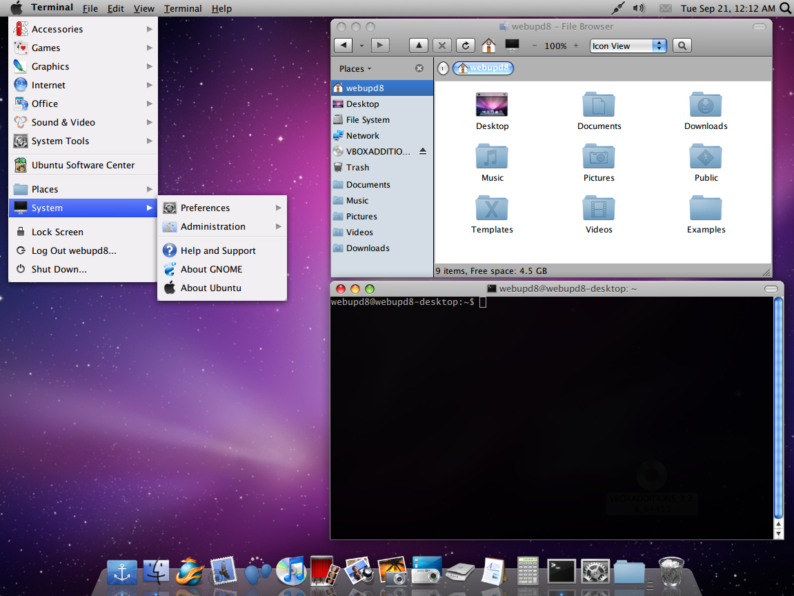 kde mac os x dock