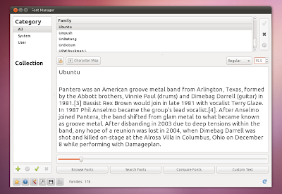 Ubuntu 10.10 screenshots font