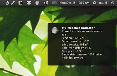 My weather indicator notifyosd