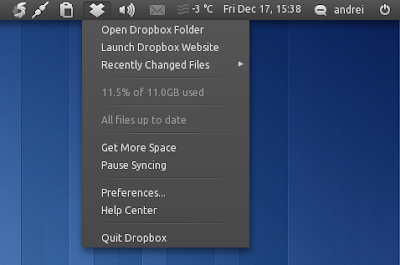 Dropbox appindicator