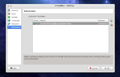 Virtualbox 4.0 extensions pack